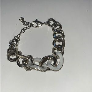 Swarovski white and silver bracelet